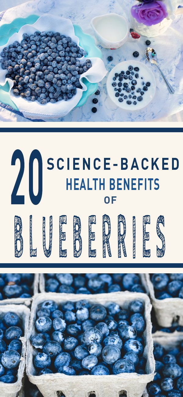 20 Science-Backed Health Benefits of Blueberries