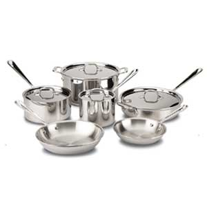 All Clad Stainless Steel Dishwasher Safe Cookware Set