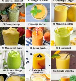 mango smoothie infographic