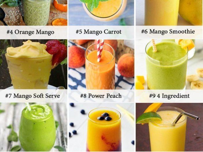 mango smoothie infographic