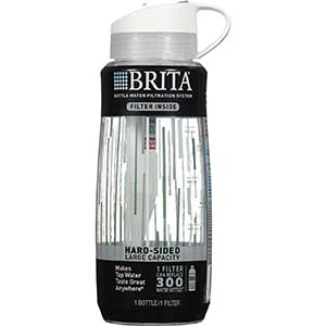 Brita 34 Ounce Hard Sided Filtered Water Bottle