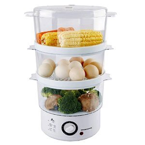 Ovente 3 Tier Electric Vegetable Steamer