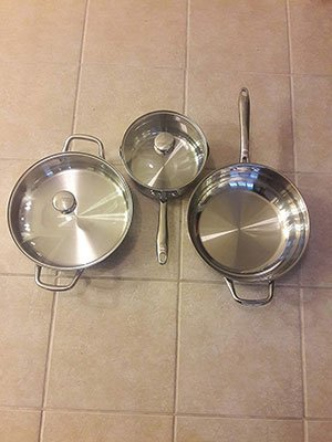 Wolfgang Puck 3 Piece Cookware