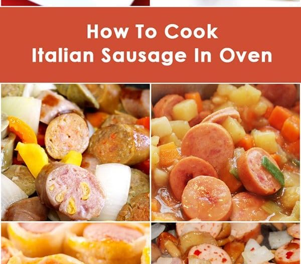 how to cook italian sausage in oven