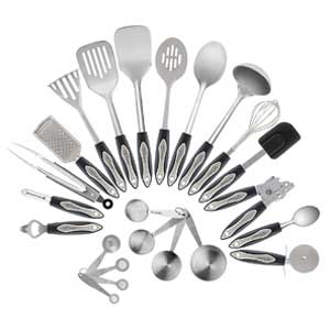 Chef Essential 23 Piece Stainless Steel Kitchen Utensil Set