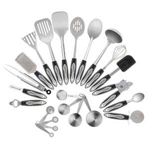 Chef Essential 23 Piece Stainless Steel Kitchen Utensil Set