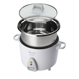 Aroma Simply Stainless 3 Cup Rice Cooker