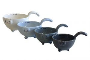 Ceramic Cat Measuring Cups and Baking Bowls