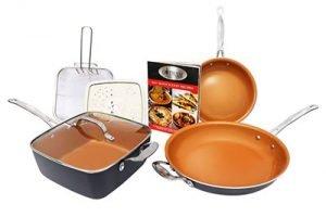 Gotham Steel 7 Piece Cookware Set Titanium Ceramic Pan