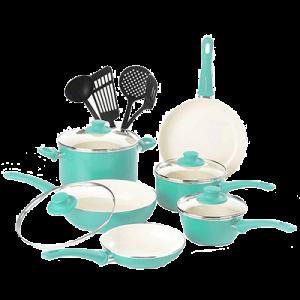 Soft Grip Ceramic Made NonStick Set