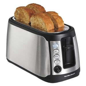 hamilton beach 24810 4 slice long slot keep warm toaster