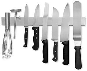 Modern Innovations 16 Inch Stainless Steel Magnetic Knife Holder