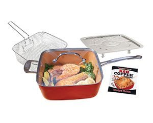 Red Copper 5 Piece Set Pan
