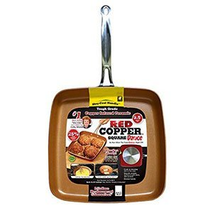 Red Copper Non-Stick Square Dance Pan