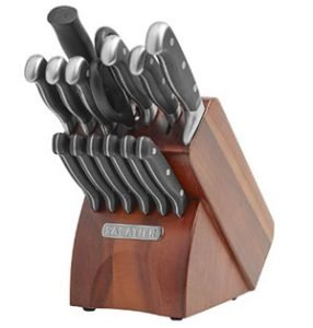 Sabatier 15 Piece Forged Triple Rivet Knife Block Set