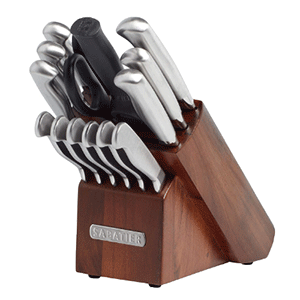 Sabatier 15 Piece Stainless Steel Hollow Handle Knife Block Set