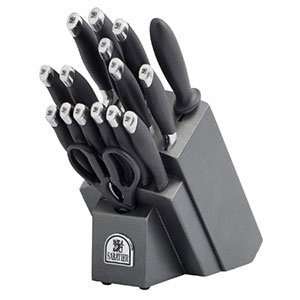 Sabatier 17 Piece Soft Grip Forged Stainless Steel Knife Block Set