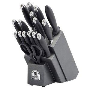 Sabatier 17 Piece Soft Grip Forged Stainless Steel Knife Block Set