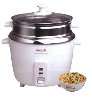 Miracle Exclusives Stainless Steel Rice Cooker