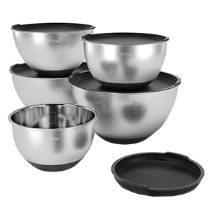 X Chef Professional Stainless Steel Mixing Bowls