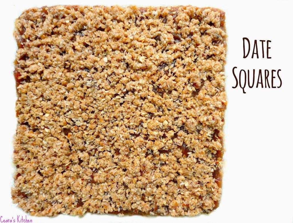 No Bake Date Squares