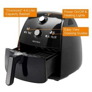 Secura 1500 Watt Electric Hot Air Fryer