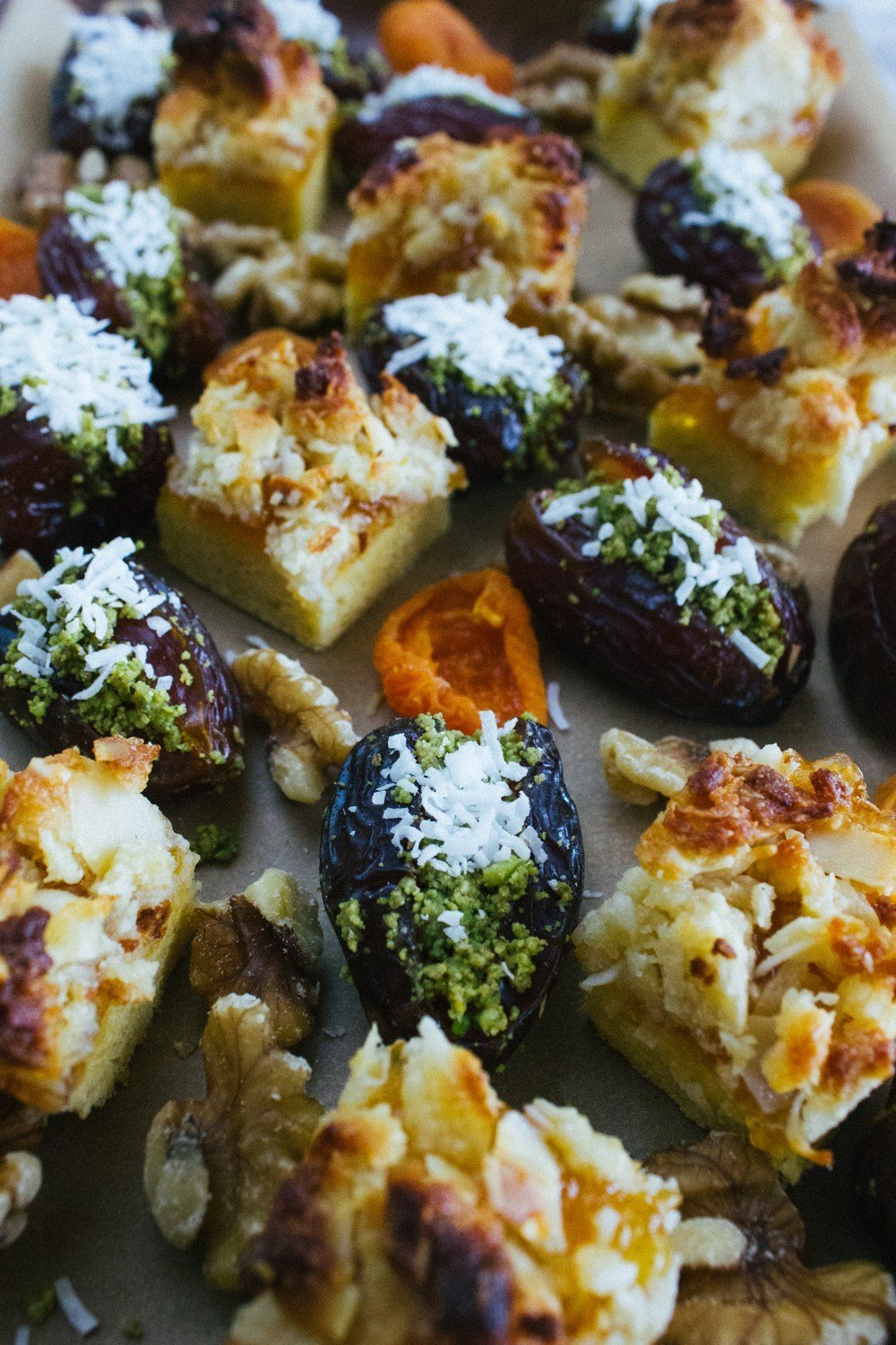 Pistachio Stuffed Dates With Coconut