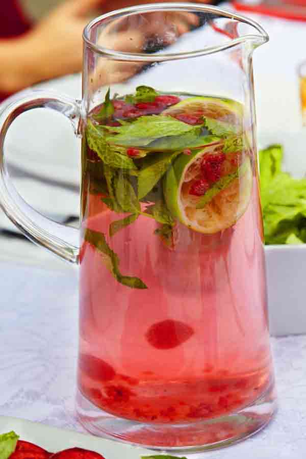 Raspberry And Mint Scented Water