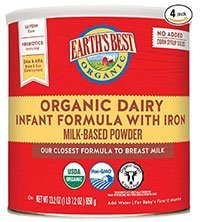 Earths Best Organic Formula Milk for Babies