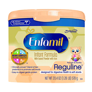 Enfamil Reguline Infant Formula Reusable Powder Tub
