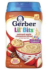 Gerber Lil Bits Oatmeal Apple Cinnamon Baby Cereal