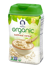 Gerber Organic Single Grain Oatmeal Cereal for Baby