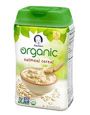 Gerber Organic Single Grain Oatmeal Cereal for Baby