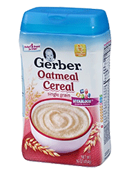 Gerber Single Grain Oatmeal Cereal