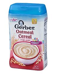 Gerber Single Grain Oatmeal Cereal