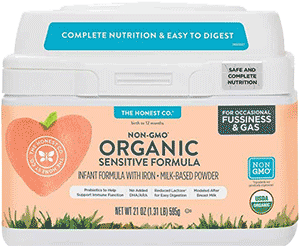 Honest Co Sensitive Organic Baby Formula
