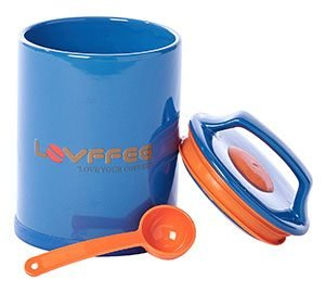 LOVFFEE Blue Ceramic Premium Coffee Storage Container