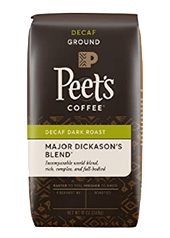 Peets Coffee, Decaf Major Dickasons Blend Ground