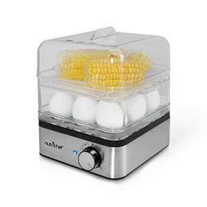 Pyle PKEC12 Rapid Egg Cooker and Vegetable Food Steamer