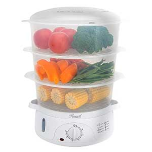 Rosewill 3 Tier Stackable Baskets Electric Food Steamer