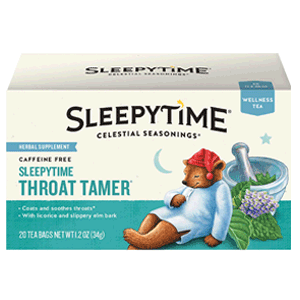 Sleepytime Throat Tamer Tea for Sore Throat