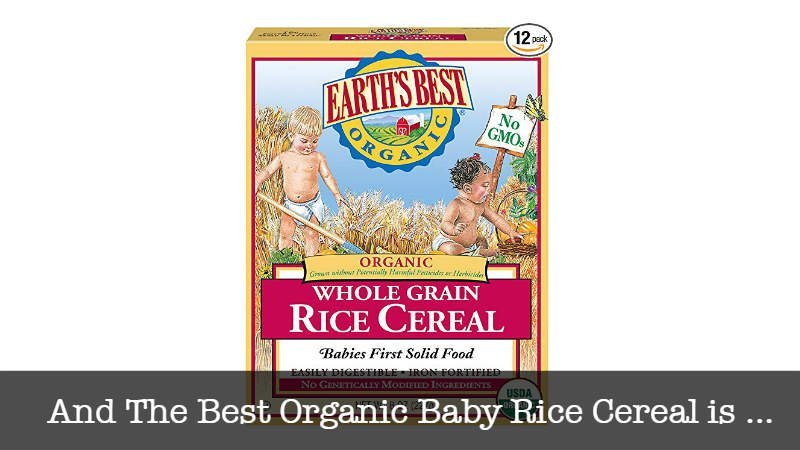 The Best Organic Baby Rice Cereal
