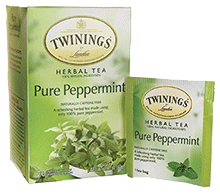 Twinings Pure Peppermint Herbal Tea for Bloating Relief