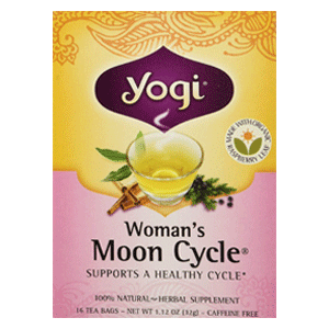 Yogi Teas Womans Moon Cycle Organic Tea for Cramps Relief
