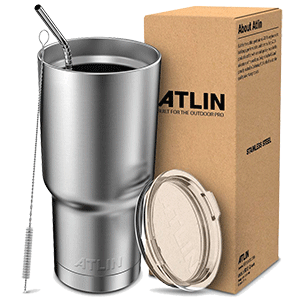 Atlin Tumbler Double Wall Stainless Steel Travel Mug