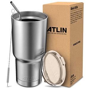 Atlin Tumbler Double Wall Stainless Steel Travel Mug