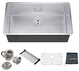 VAPSINT Commercial Undermount Single Bowl Kitchen Sinks