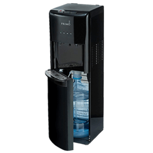 Primo Black 2 Spout Bottom Load Hot and Cold Water Cooler Dispenser