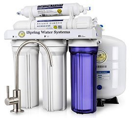 iSpring 5-Stage Reverse Osmosis Under Sink Water Filter System