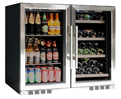 KingsBottle Vibration Free Beverage and Wine Cooler